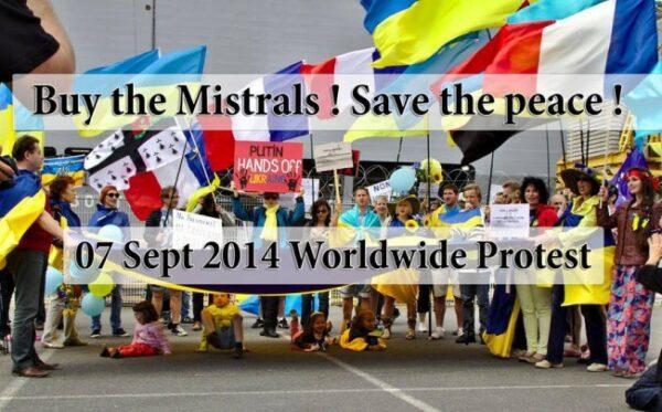 Глобальный протест против продажи кораблей «Мистраль» в Россию