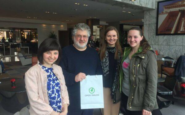 Активисты Фундации «Открытый Диалог» встретились с Игорем Коломойским