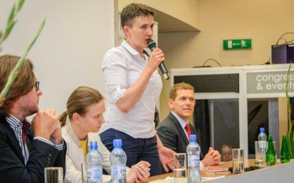 Встреча с Надеждой Савченко в Варшаве. История войны, будущее покоя. Что дальше?