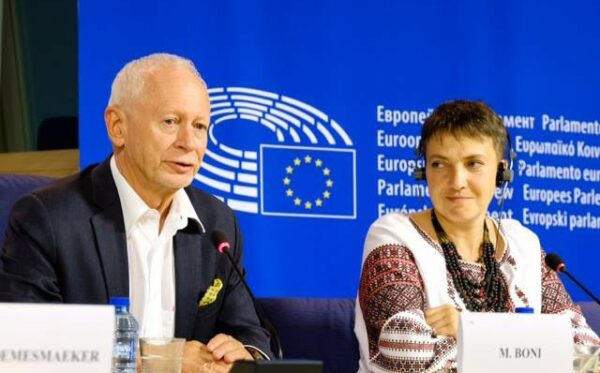 Надежда Савченко с визитом в ЕП