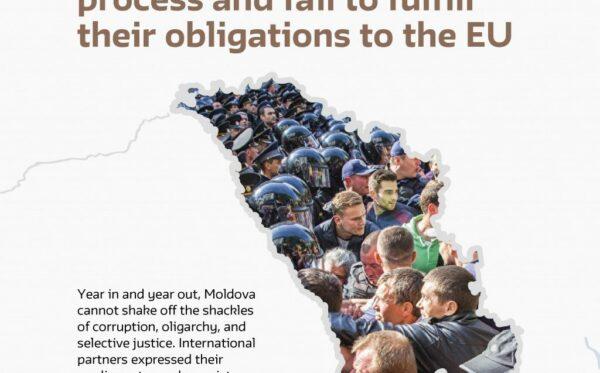 Отчет: Власти Молдовы сворачивают процесс демократизации и не выполняют обязательства перед ЕС