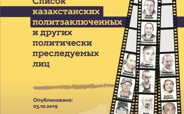 Список казахстанских политзаключенных и других политически преследуемых лиц (обновлено)