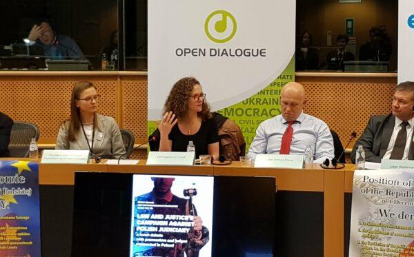 «Кампания партии «Право и Справедливость» против польского правосудия» – заседание Фундации в Европейском парламенте