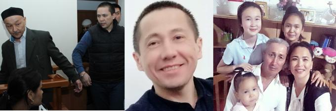 Осужденные к тюремным срокам за критику властей в социальных сетях: Кенжебек Абишев, Алмат Жумагулов, Асет Абишев, Абловас Джумаев, а также жена Джумаева Айгуль Акбердиева, которая находится под следствием. Фото из личного архива.