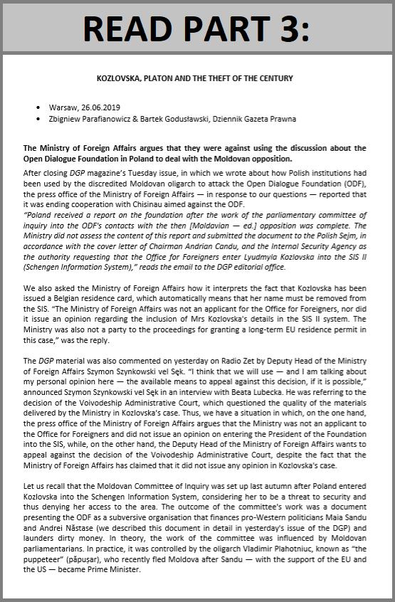 DGP: Kozlovska, Platon and the theft of the century