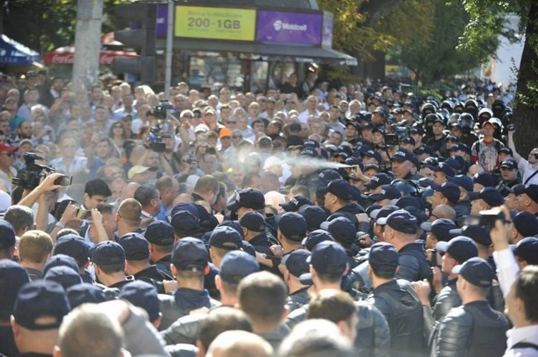 The protests of 27 August. Photo: http://www.jurnal.md